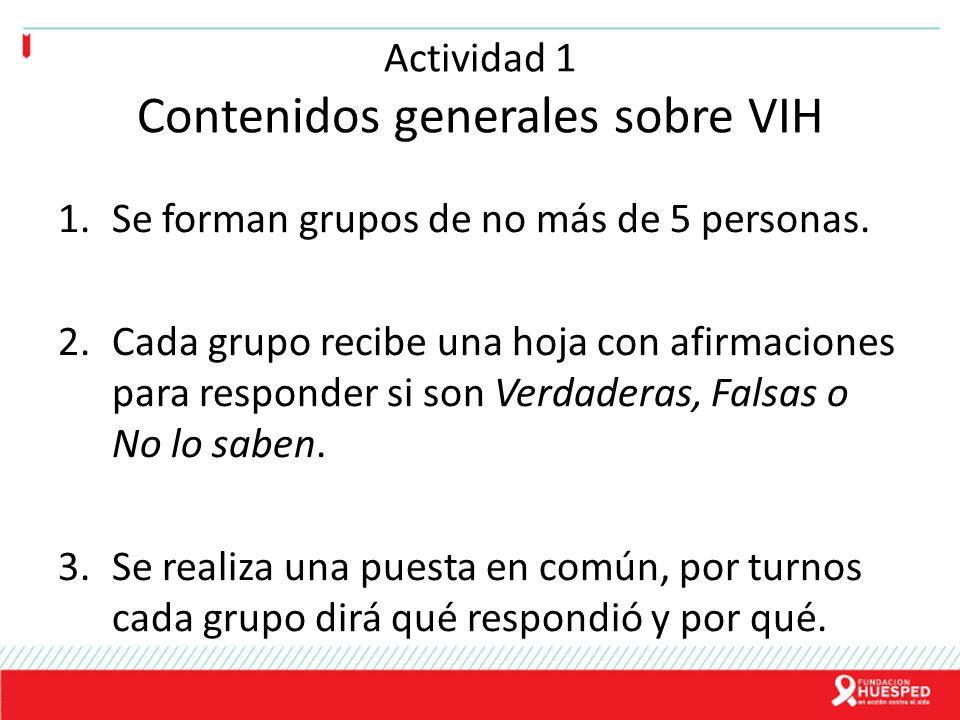 Actividad 1 Contenidos generales sobre VIH