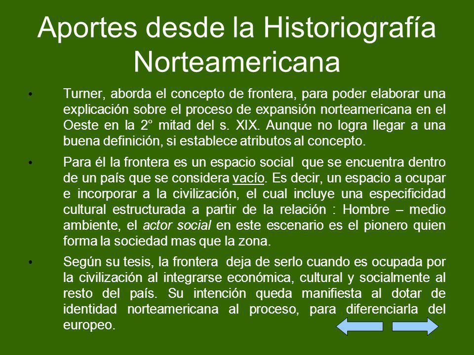 Aportes desde la Historiografía Norteamericana