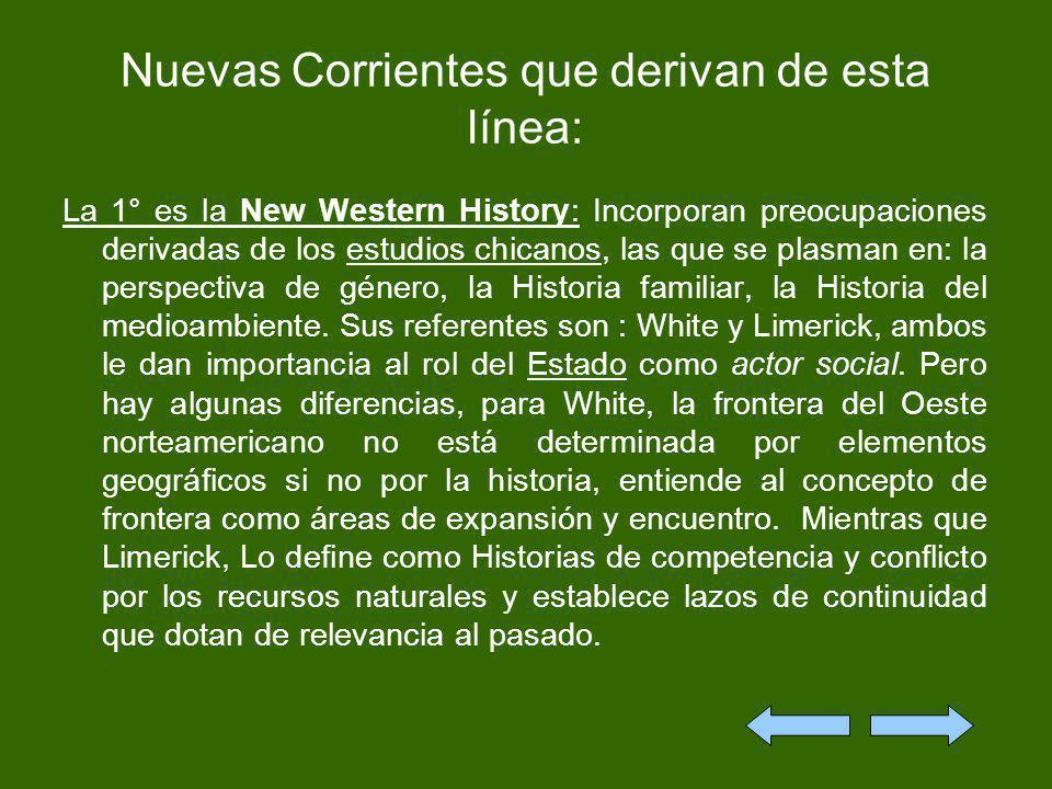 Nuevas Corrientes que derivan de esta línea: