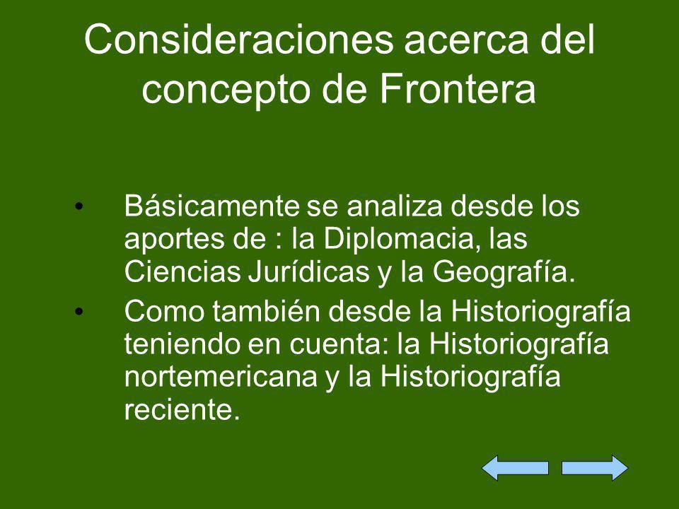 Consideraciones acerca del concepto de Frontera