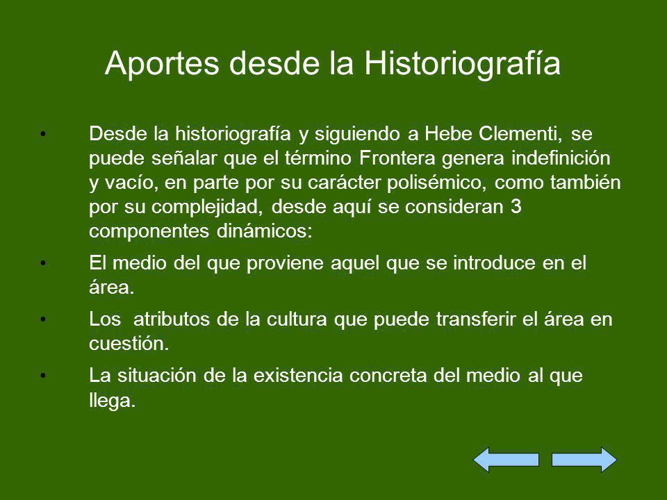 Aportes desde la Historiografía