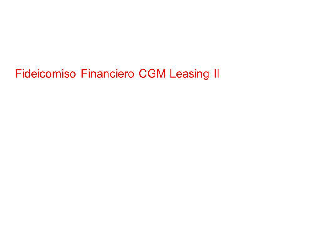 Fideicomiso Financiero CGM Leasing II