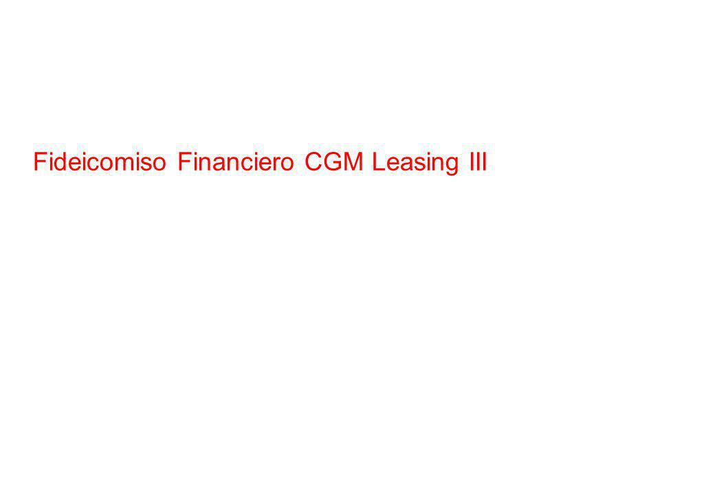 Fideicomiso Financiero CGM Leasing III
