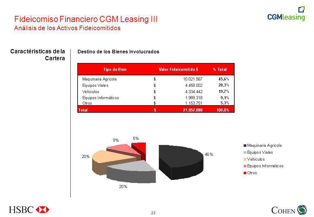 Fideicomiso Financiero CGM Leasing III Análisis de los Activos Fideicomitidos