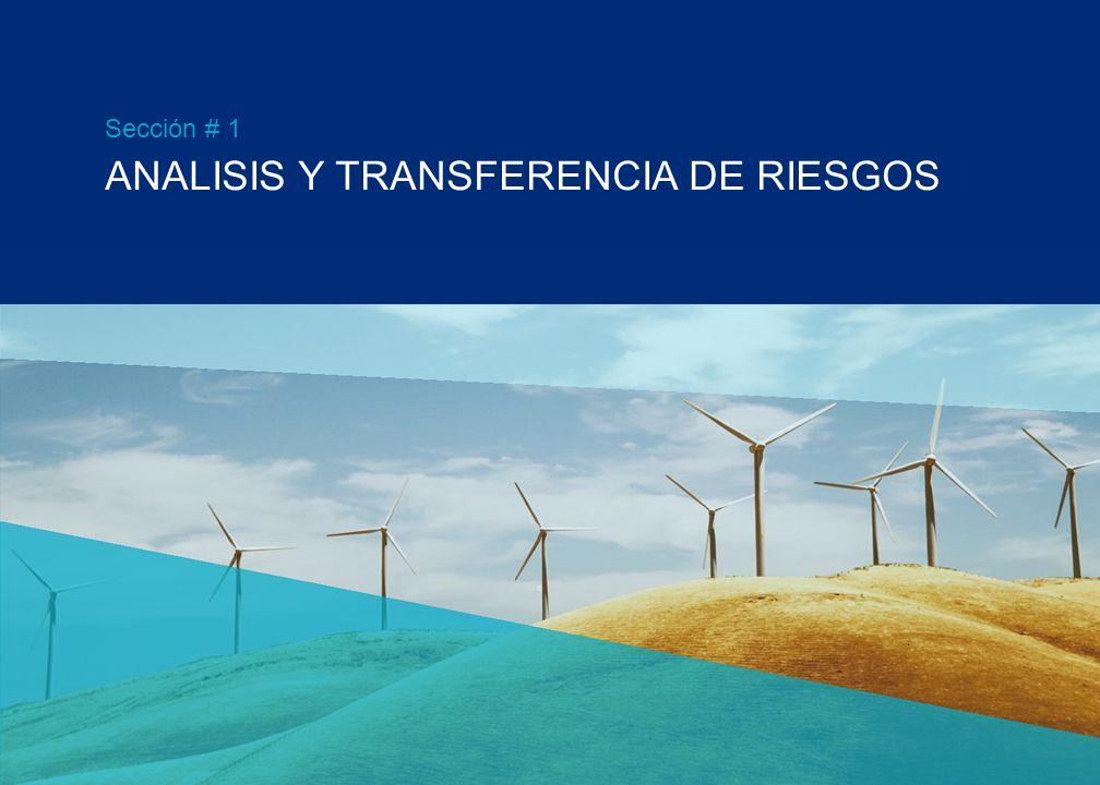 ANALISIS Y TRANSFERENCIA DE RIESGOS