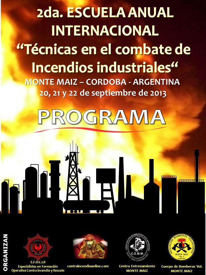 Técnicas en el combate de Incendios industriales
