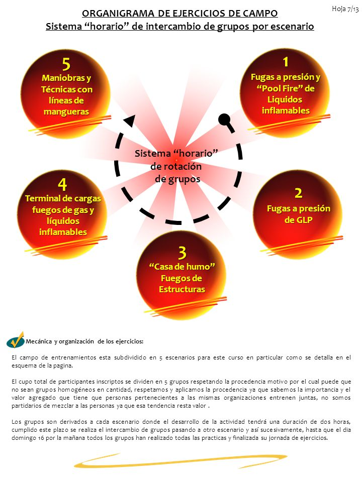 5 1 4 2 3 ORGANIGRAMA DE EJERCICIOS DE CAMPO