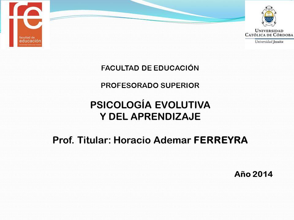 Prof. Titular: Horacio Ademar FERREYRA