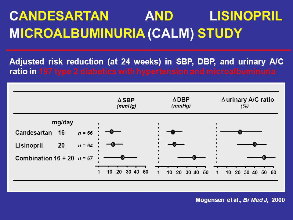 CANDESARTAN AND LISINOPRIL MICROALBUMINURIA (CALM) STUDY