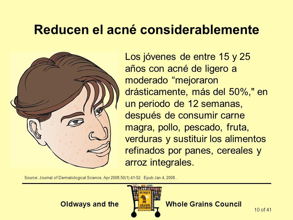 Reducen el acné considerablemente