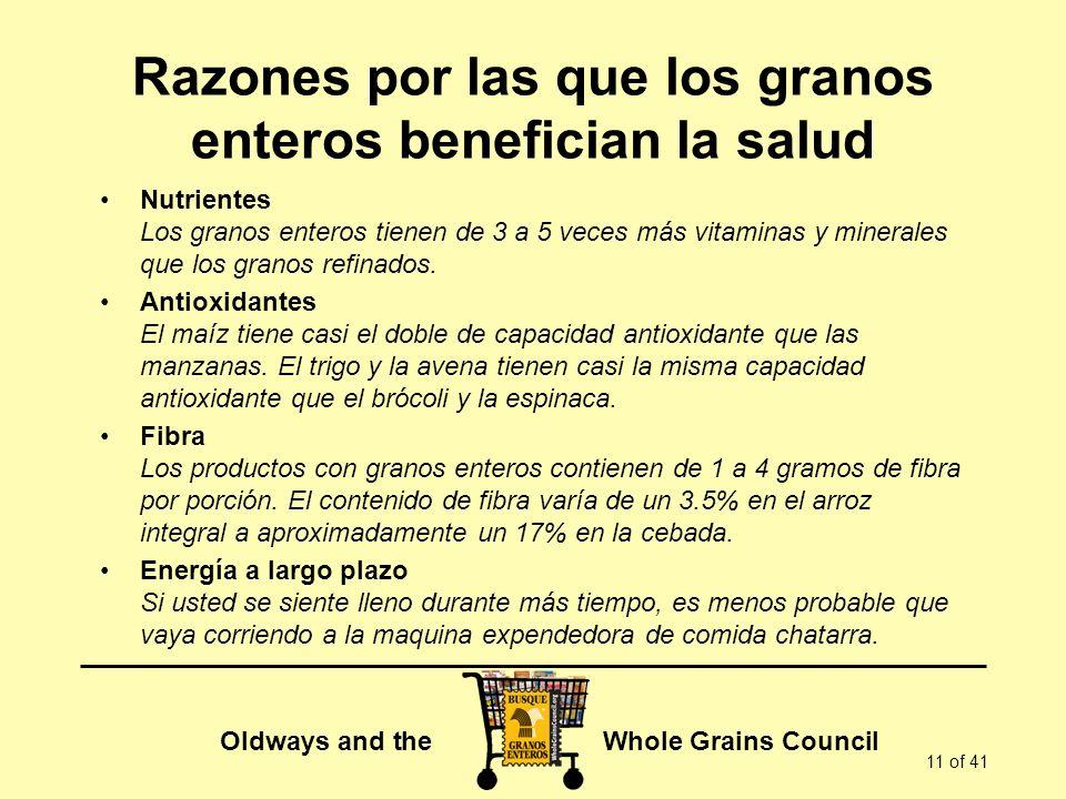Razones por las que los granos enteros benefician la salud