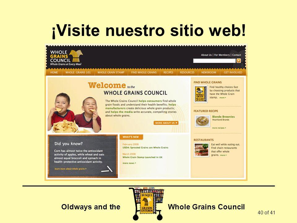 ¡Visite nuestro sitio web!