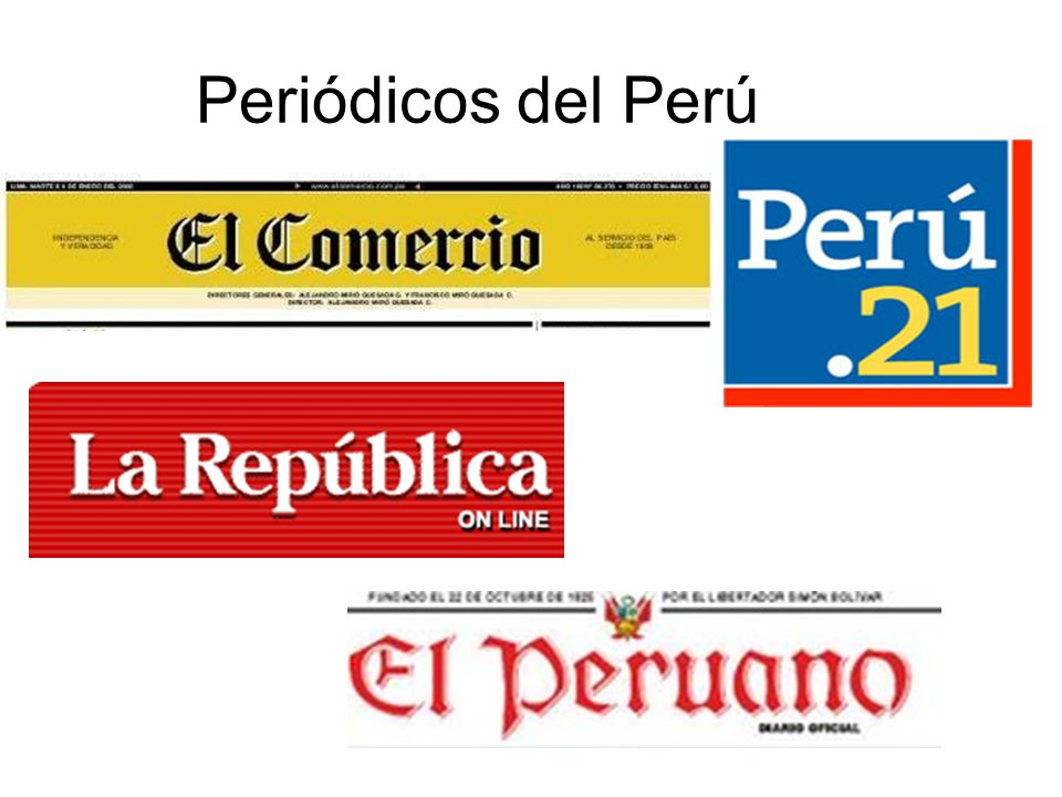 Periódicos del Perú