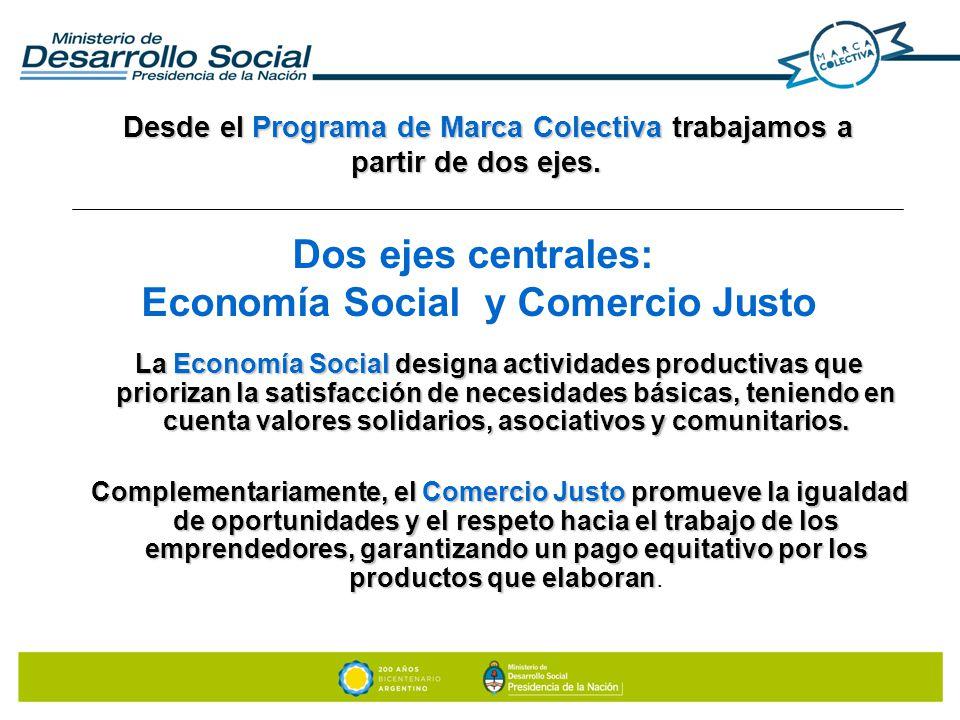 Dos ejes centrales: Economía Social y Comercio Justo
