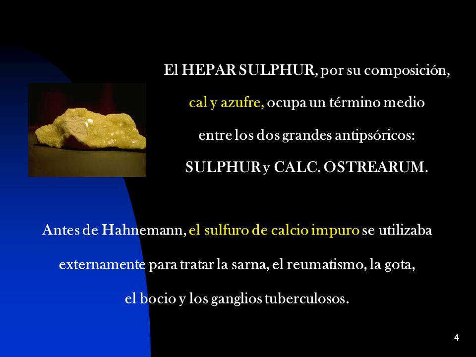 El HEPAR SULPHUR, por su composición,