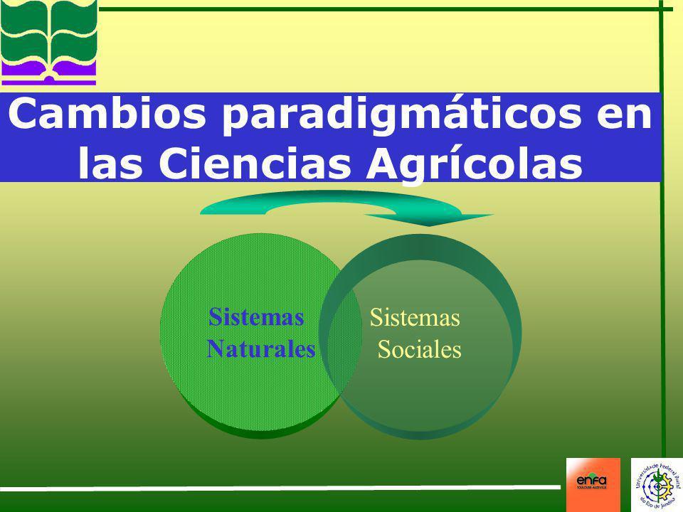 Cambios paradigmáticos en las Ciencias Agrícolas