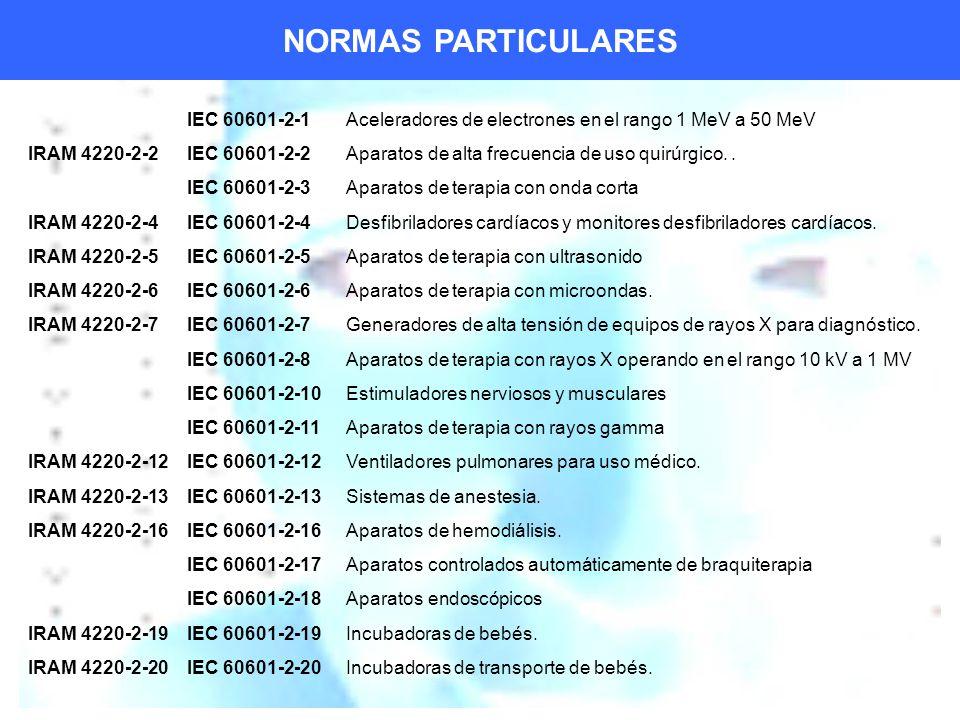 NORMAS PARTICULARES IEC 60601-2-1