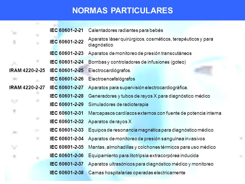 NORMAS PARTICULARES IEC 60601-2-21 Calentadores radiantes para bebés