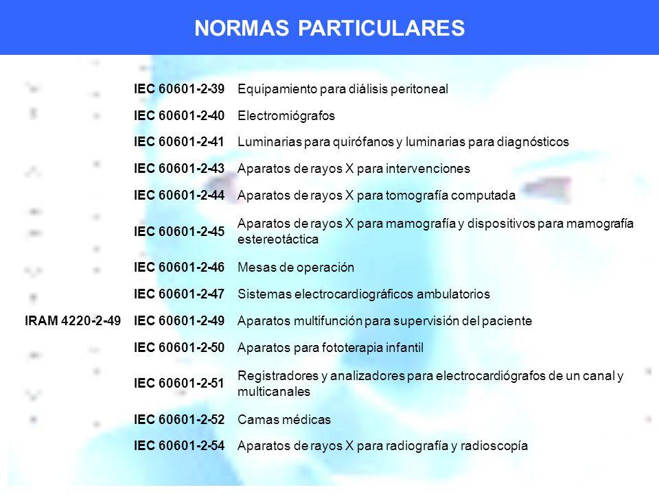 NORMAS PARTICULARES IEC 60601-2-39