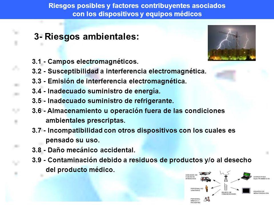 3- Riesgos ambientales: