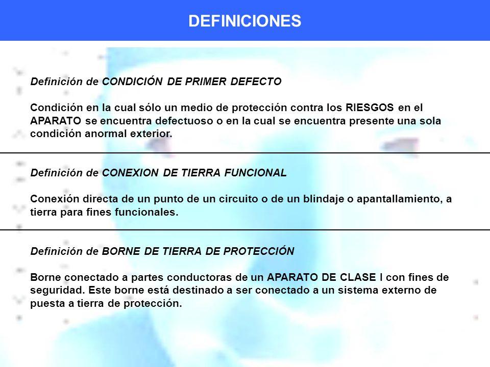 DEFINICIONES Definición de CONDICIÓN DE PRIMER DEFECTO