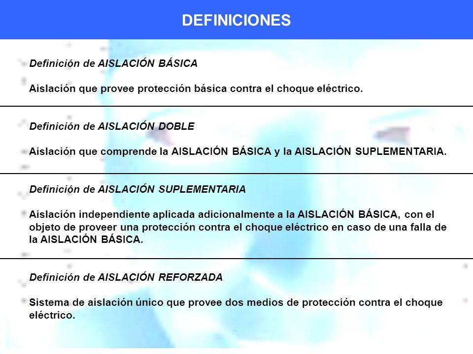 DEFINICIONES Definición de AISLACIÓN BÁSICA