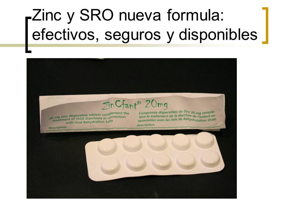 Zinc y SRO nueva formula: efectivos, seguros y disponibles