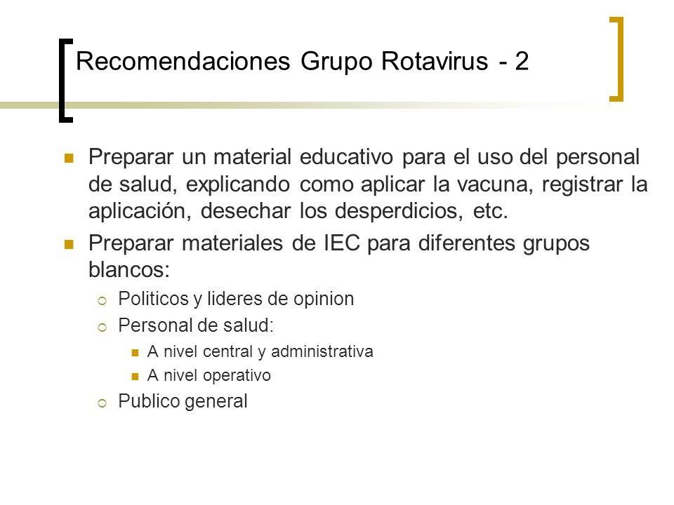 Recomendaciones Grupo Rotavirus - 2