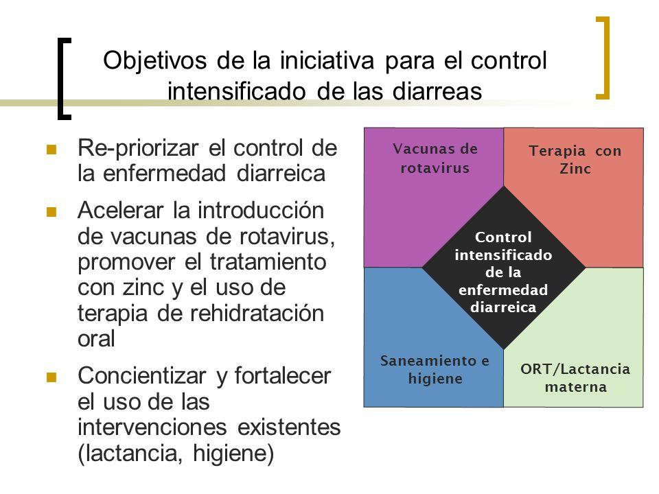 ORT/Lactancia materna Control intensificado de la enfermedad diarreica