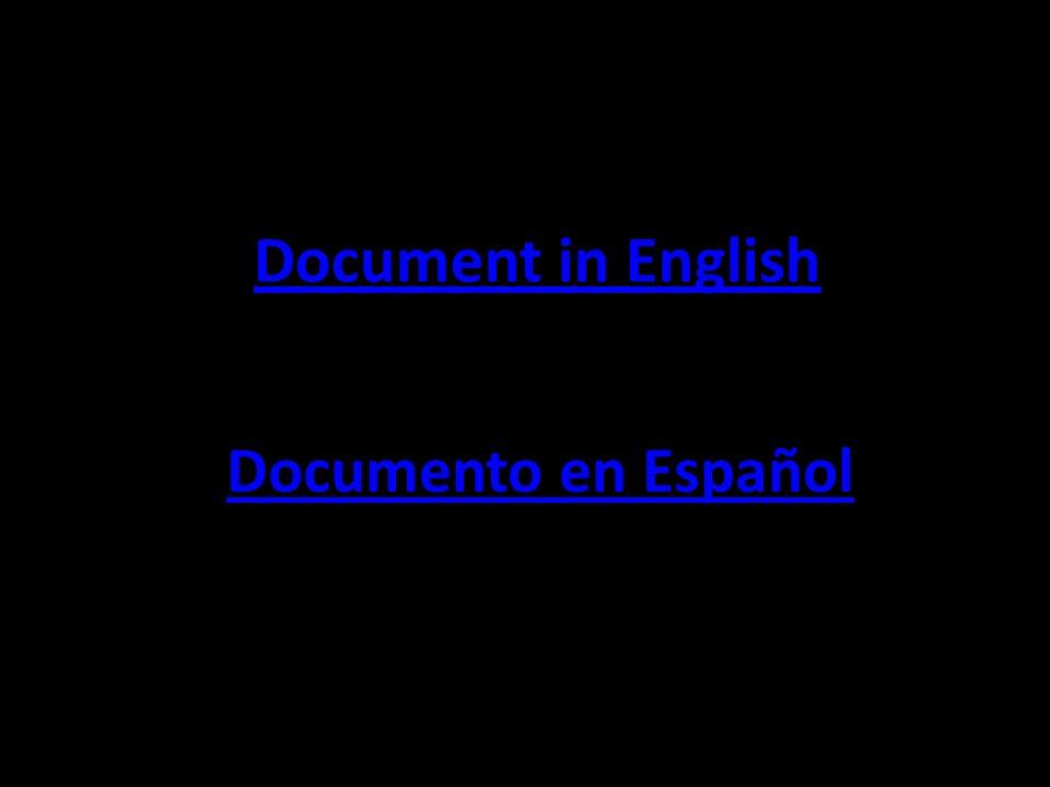 Document in English Documento en Español