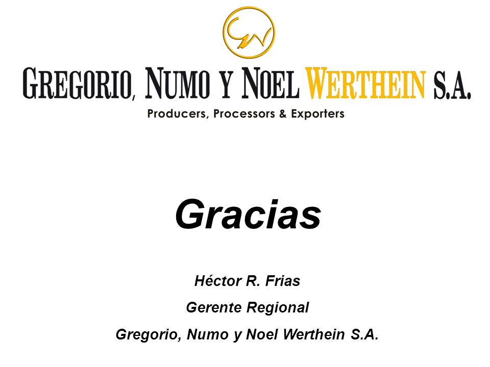Gregorio, Numo y Noel Werthein S.A.