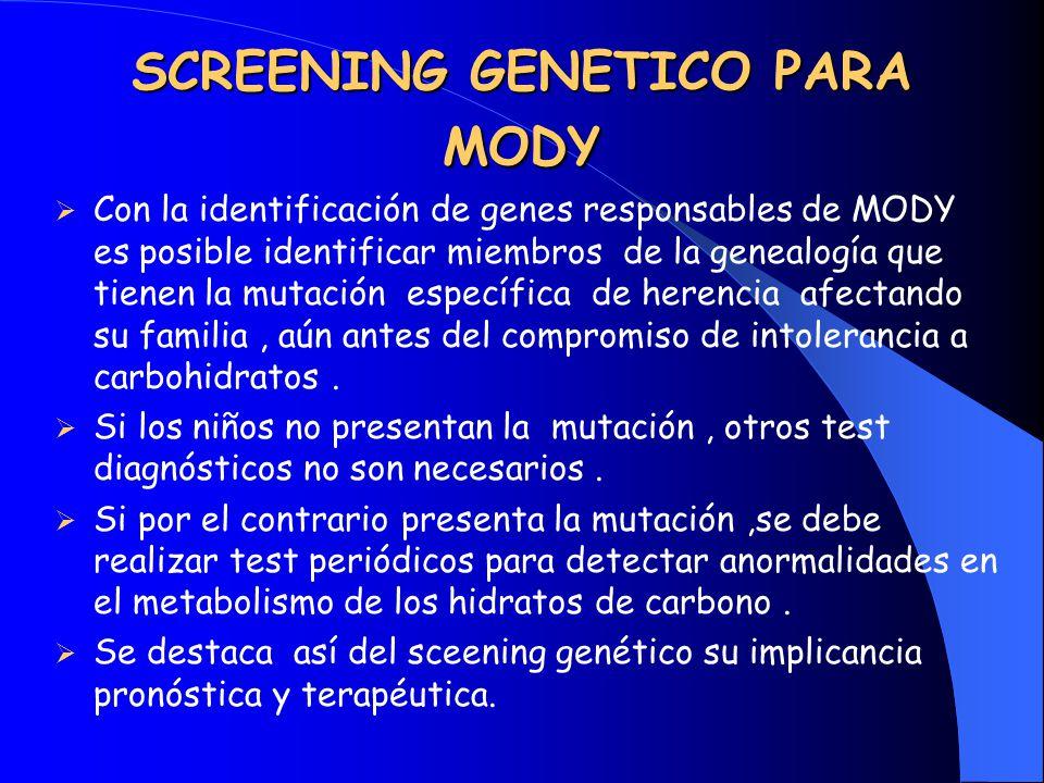 SCREENING GENETICO PARA MODY