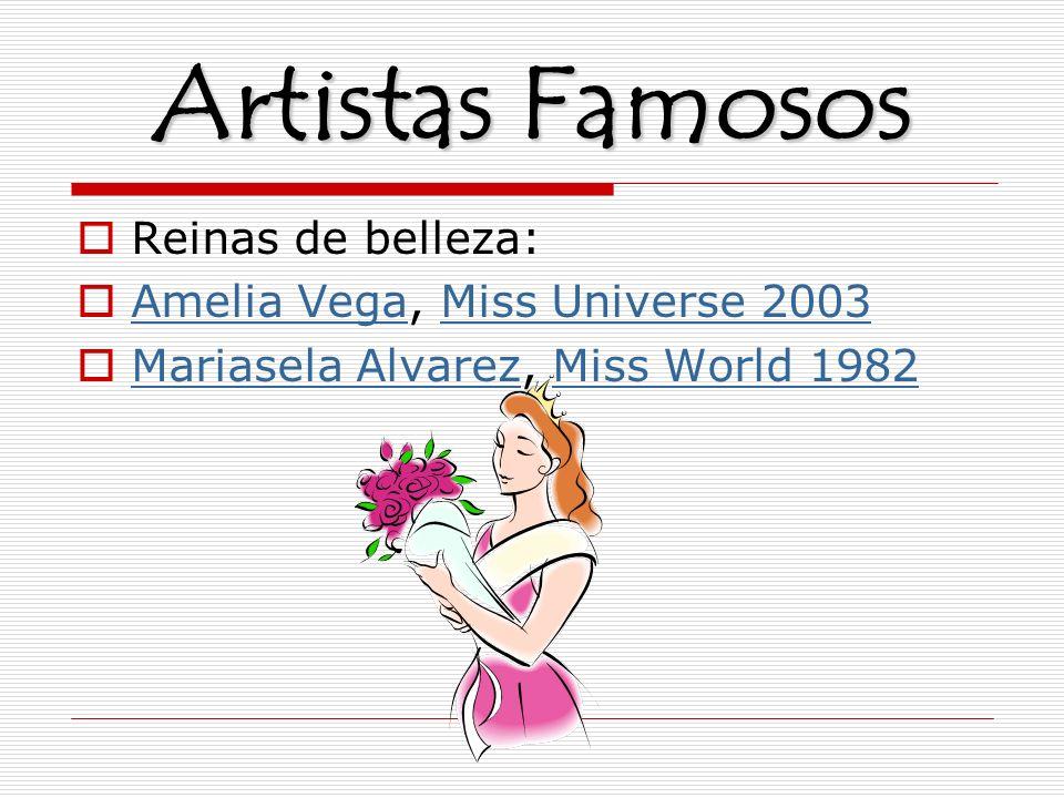 Artistas Famosos Reinas de belleza: Amelia Vega, Miss Universe 2003