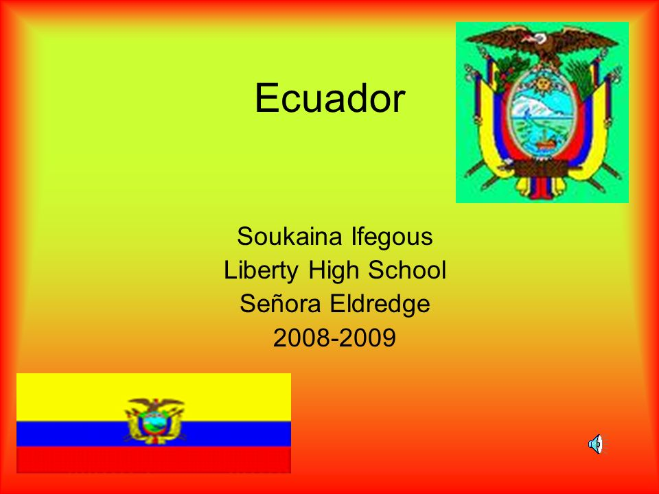 Soukaina Ifegous Liberty High School Señora Eldredge 2008-2009