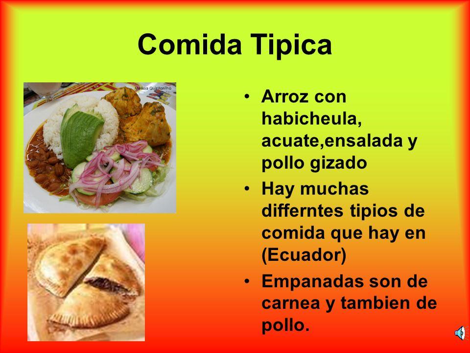Comida Tipica Arroz con habicheula, acuate,ensalada y pollo gizado