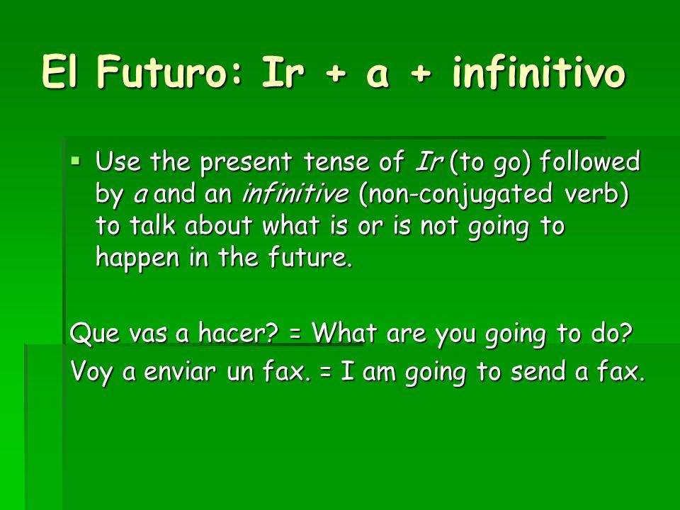 El Futuro: Ir + a + infinitivo