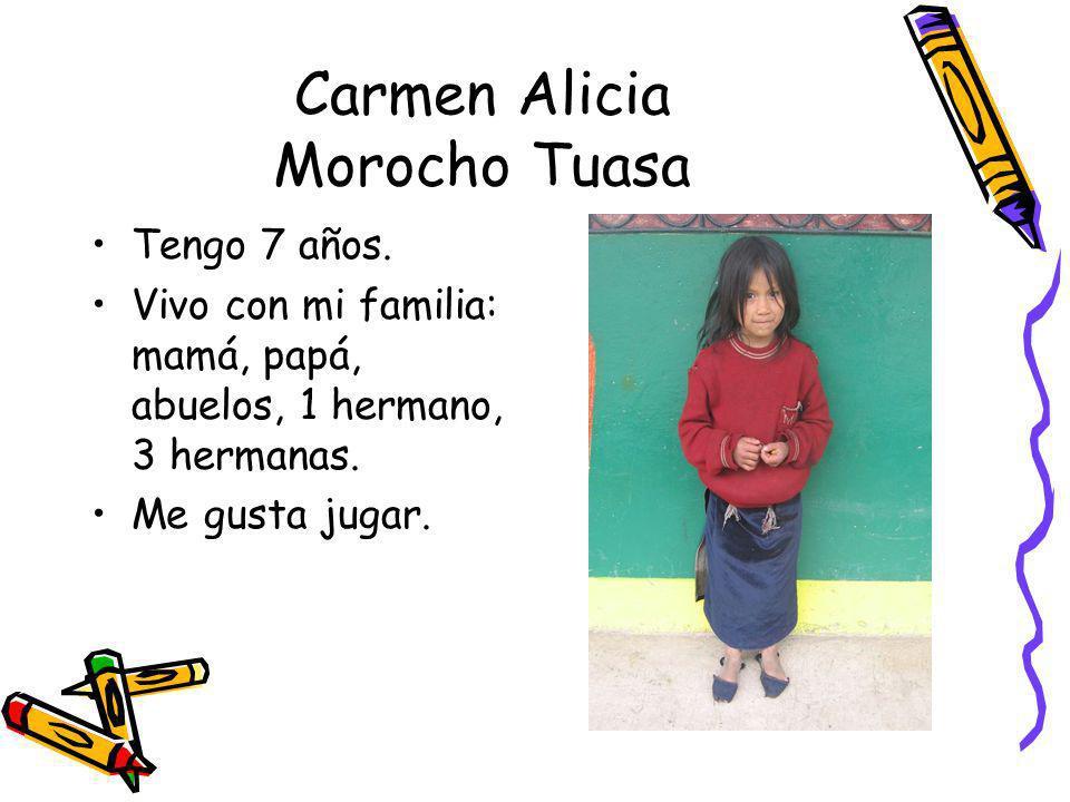 Carmen Alicia Morocho Tuasa