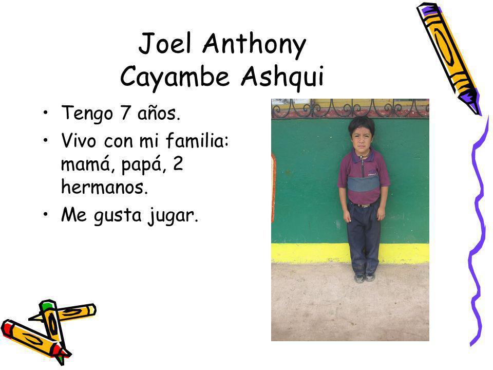 Joel Anthony Cayambe Ashqui