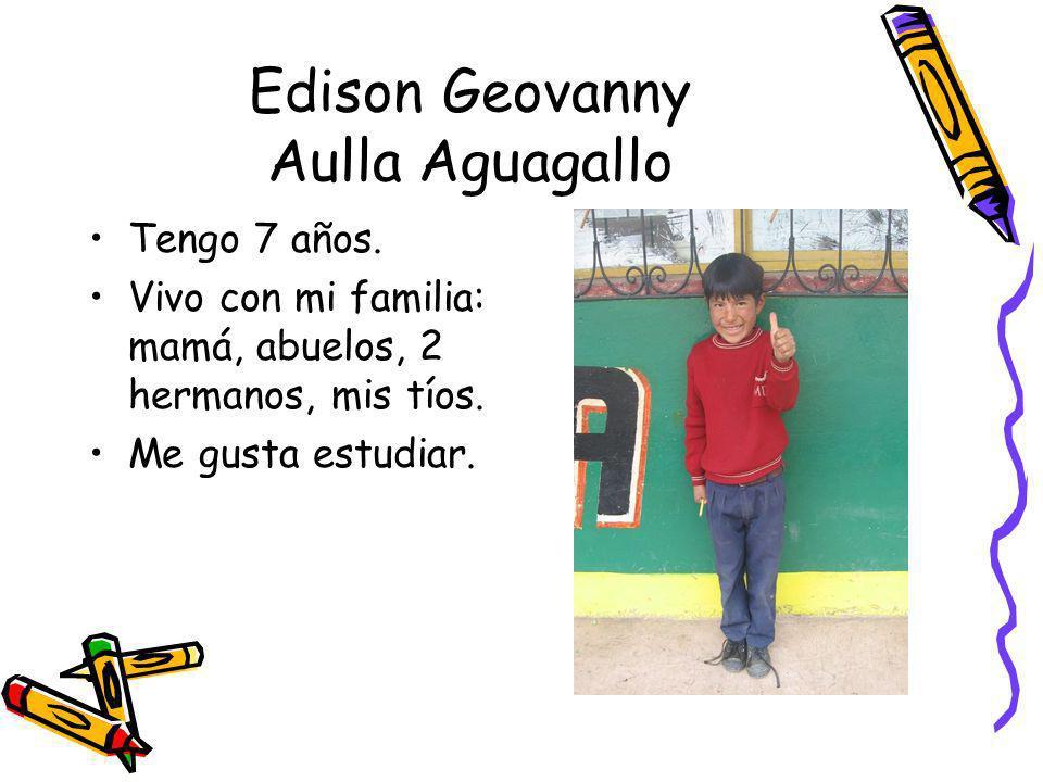 Edison Geovanny Aulla Aguagallo