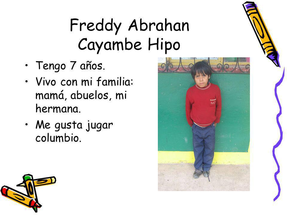 Freddy Abrahan Cayambe Hipo