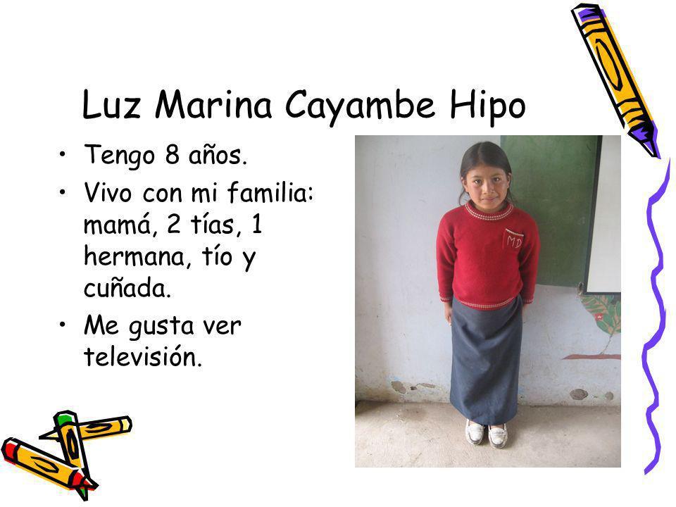 Luz Marina Cayambe Hipo