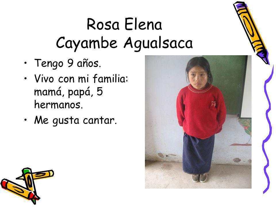 Rosa Elena Cayambe Agualsaca