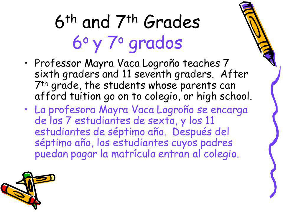 6th and 7th Grades 6o y 7o grados