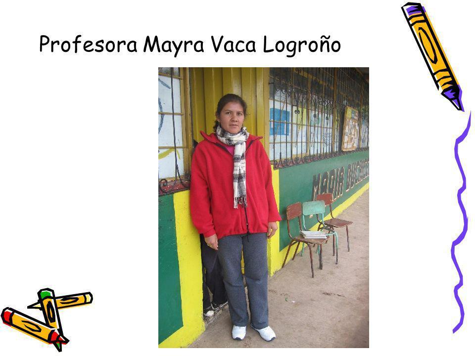Profesora Mayra Vaca Logroño