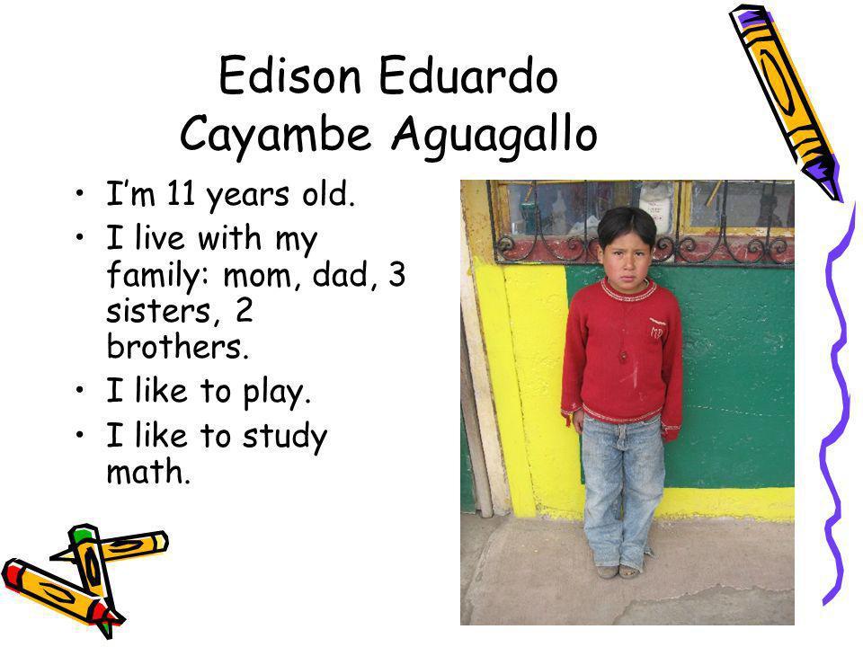Edison Eduardo Cayambe Aguagallo