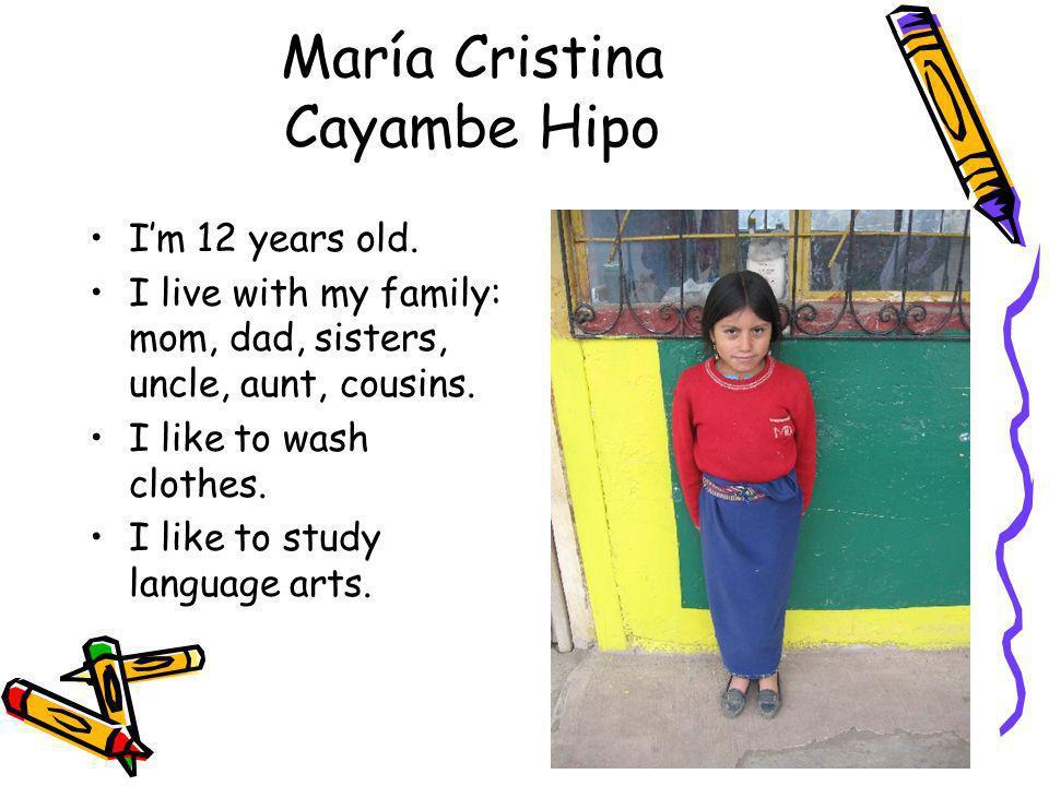 María Cristina Cayambe Hipo