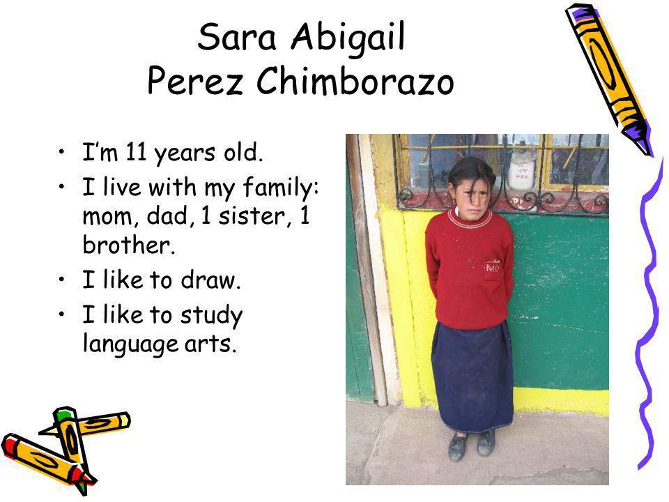 Sara Abigail Perez Chimborazo