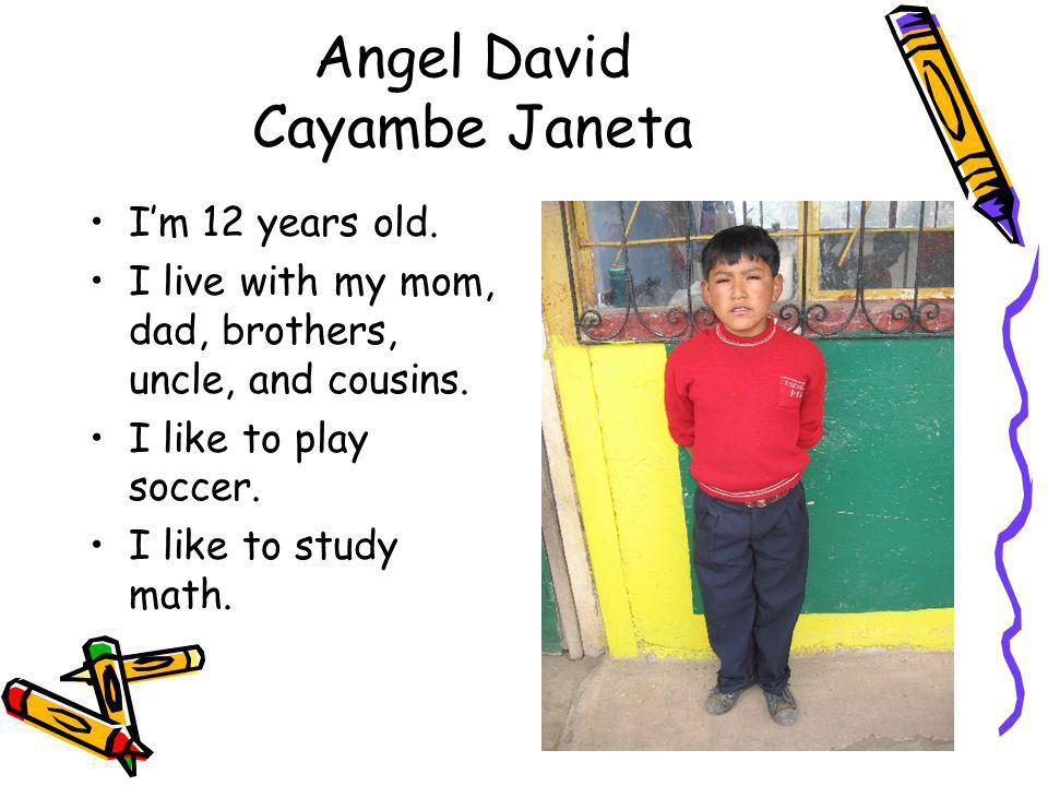 Angel David Cayambe Janeta