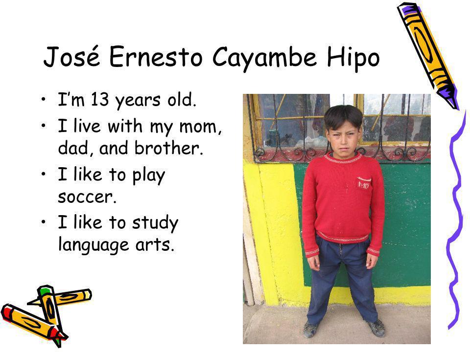 José Ernesto Cayambe Hipo