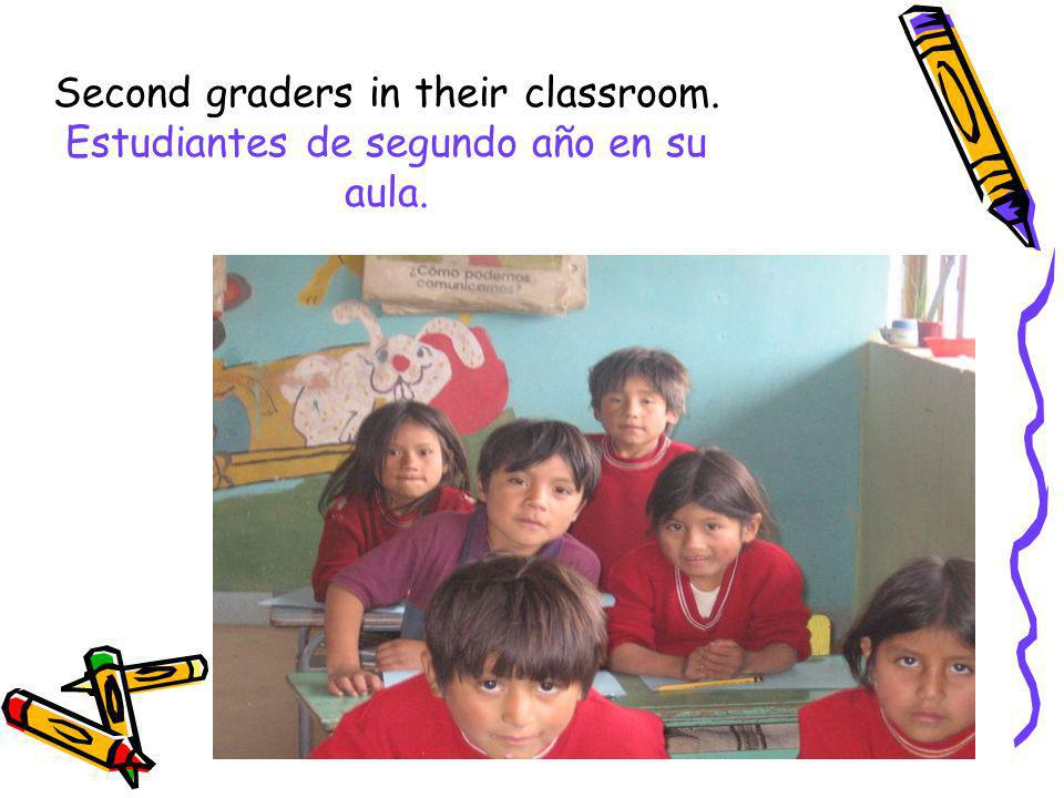 Second graders in their classroom